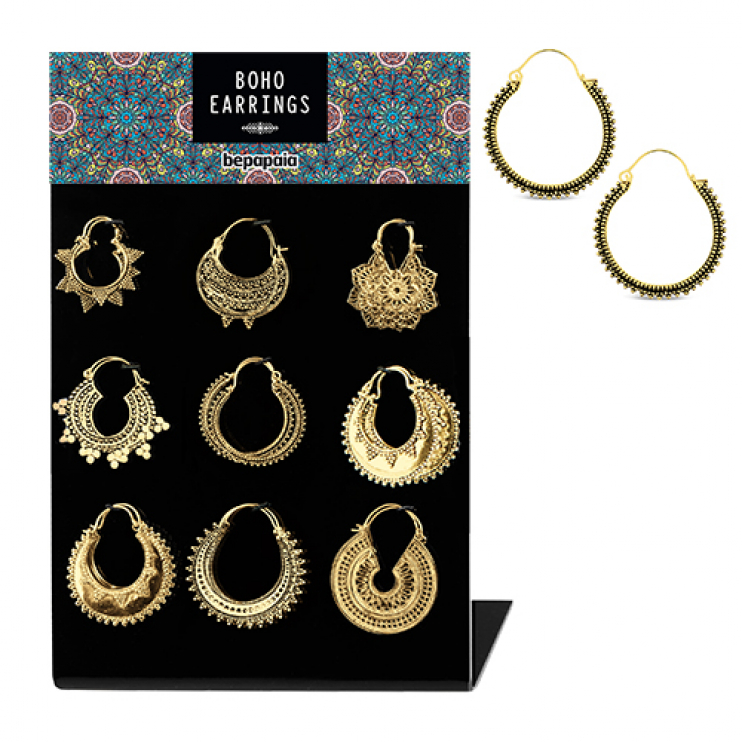 Brass earrings assorted ethnic designs