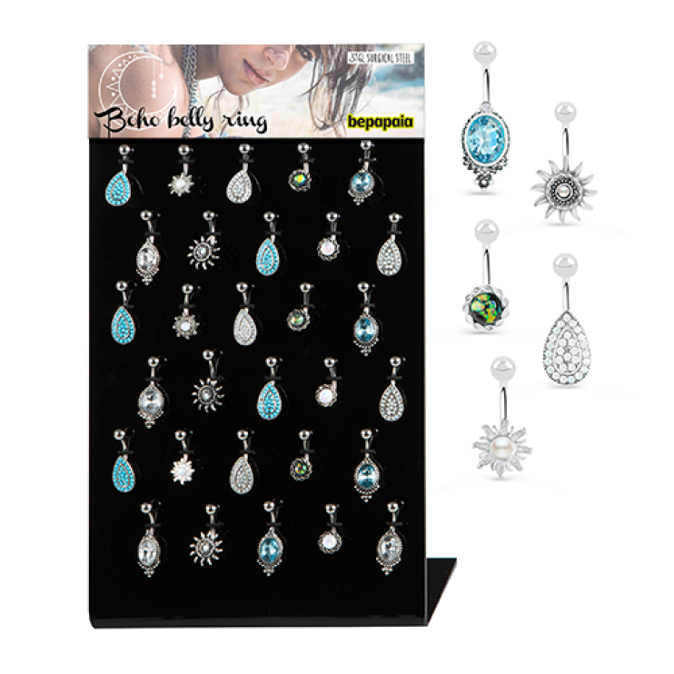 Surgical steel belly ring ethnic designs