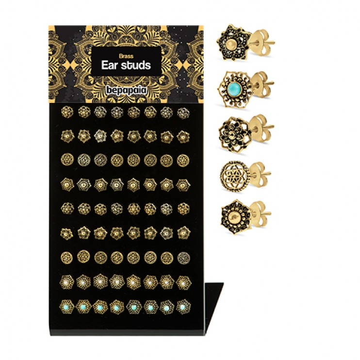 Brass studs with ethnic designs