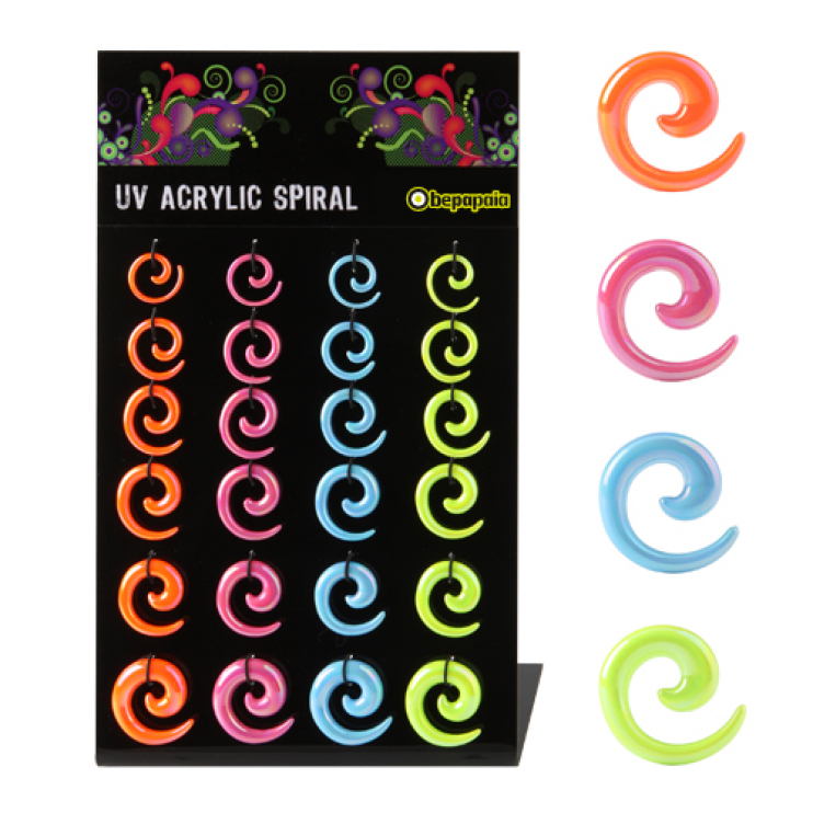 Acrylic spiral expander pearl colors