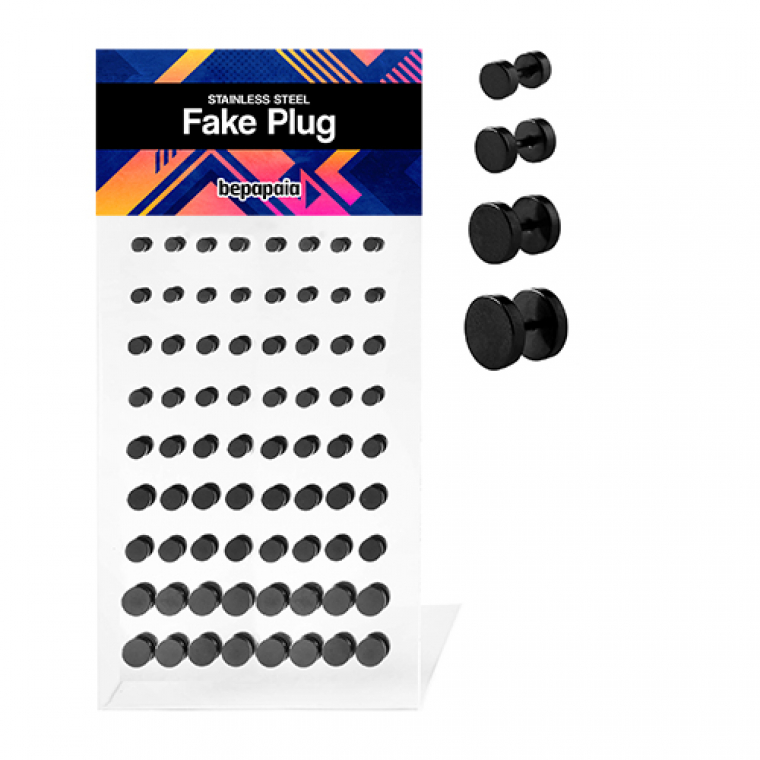 Fake Plug Plain Black Without Oring