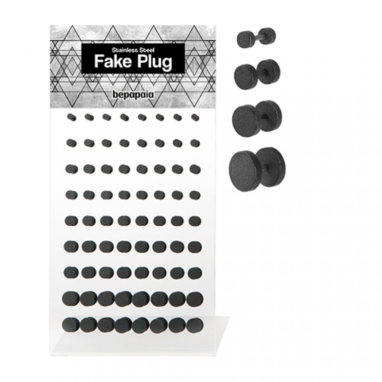 Black steel fake plug mate. 4-10mm