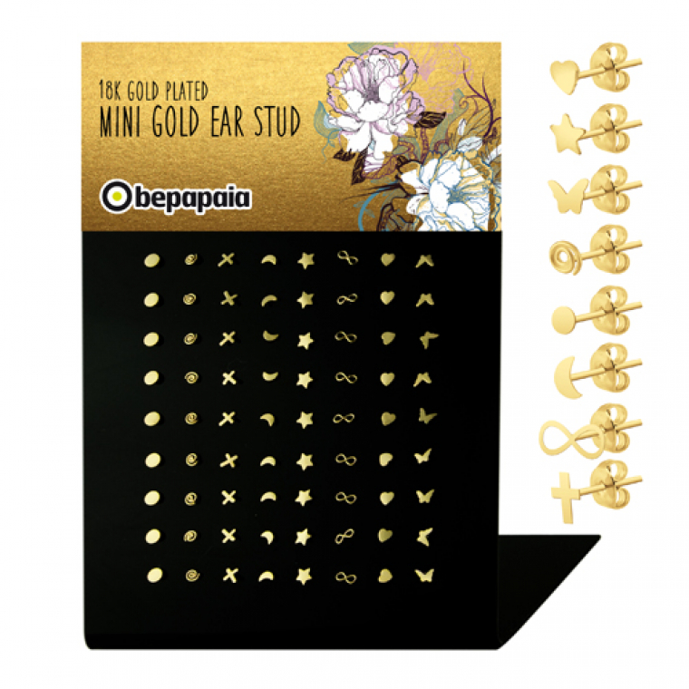 Gold plated mini ear stud